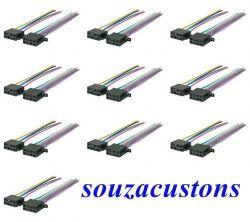 kit 10 conectores, tomadas 16 vias femea