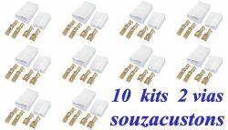 kit 10  conectores ,tomadas 2 vias