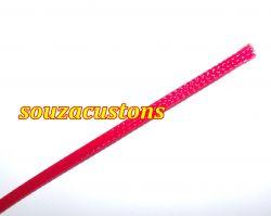 nylon braid malha nautica tech flex 3 mm vermelho