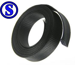nylon braid 32 mm  encapa tubo de até 50  mm de raio