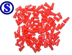 kit 100 conector torção laranja 1,3 á 5,7 mm²