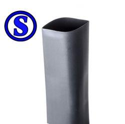 termo retrátil adesivado 30 mm  preto