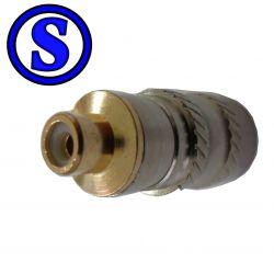 plug conector rca niquel gold fêmea achatado cabo duplo
