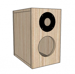 kit 2 vias para caixa bass reflex 30 w rms 6 ohms vermelho