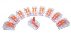 10 conector 2 vias iluminação elétrica residencial