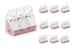 10 conector permanente modelo 103  41 A para fios de seção de 2,5mm² a 6 mm²