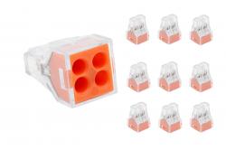 10 conector  permanente modelo 104   24A para fios de seção de 0,75mm² a 2,5 mm²