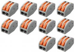 10 conector elétrico pct 212  222 emenda  engate rápido residencial