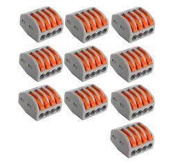 conector elétrico pct 214  222 emenda  engate rápido residencial derivação derivador