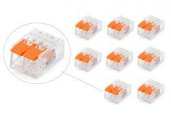 10 conector elétrico pct 412  221 emenda  engate rápido , emenda, derivador, derivação, junção