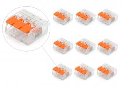 10 conector elétrico pct 413  221 emenda  engate rápido , emenda, derivador, derivação, junção