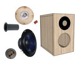 kit 2 vias para caixa bass reflex 30 w rms 6 ohms azul