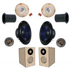 kit 2 vias para caixa bass reflex 60 w rms 6 ohms azul