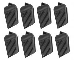 8 cantoneira para caixa de som com aba modelo grande em plástico com furo
