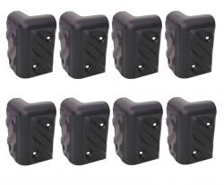 8 cantoneira para caixa de som modelo grande arredondada plástica