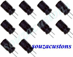 kit 10 capacitores 22 x 100 v