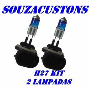 kit 2 lampadas H27 efeito xenon
