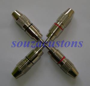 kit conector rca profissional metal