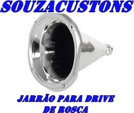 corneta jarrão metalizado para drive de rosca