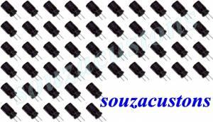 kit  50 capacitores 47 micro farads por 100v polarizado