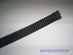 nylon braid 16 mm malha nautica 16 mm para cabo até 90 mm²