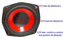 Alto Falante 4,5 Eastech 12 Ohms 60 W Fsb526050-5c24 C6589a